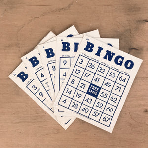 Set of Five Vintage Bingo Cards