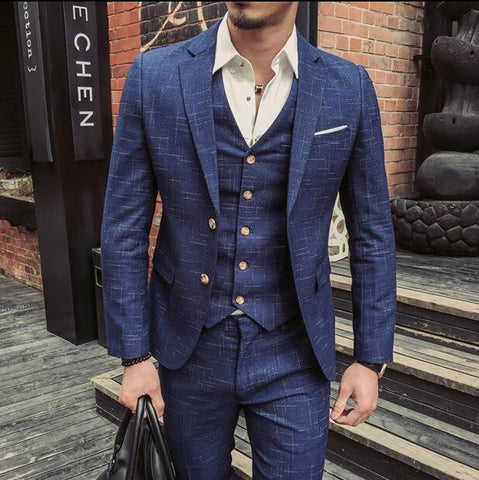 Casual Formal Blazer (Blazer+Vest+Pant)