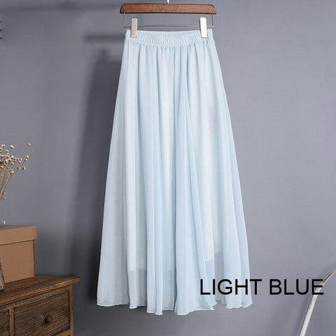 High Waist Chiffon Skirt