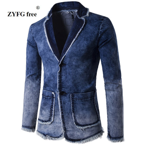 Casual Denim Blazer