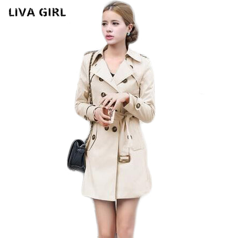 Double Breasted Slim Fit Coat