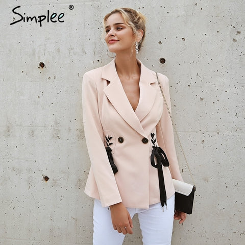 V Neck Short Blazer