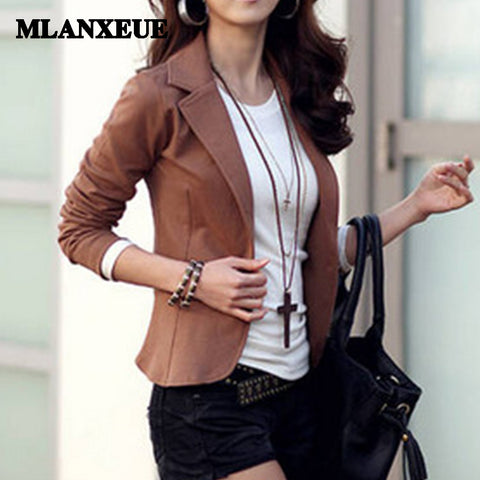 Solid Slim Blazer