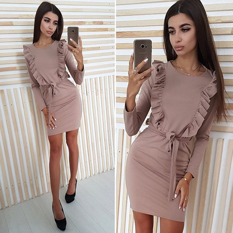 Ruffles Sheath Dress