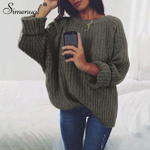 Simenual Sweaters Fashion
