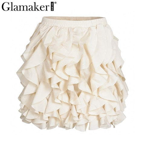 Glamaker Ruffle Mini Skirt