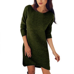 New Fashion Solid O-Neck Sweater