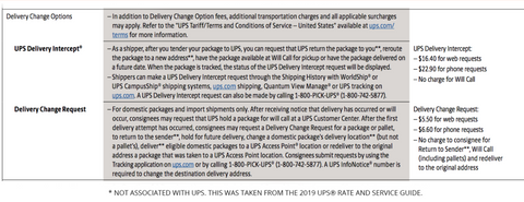 Delivery Change Options