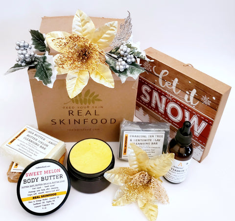Real Skinfood custom shipping box with products