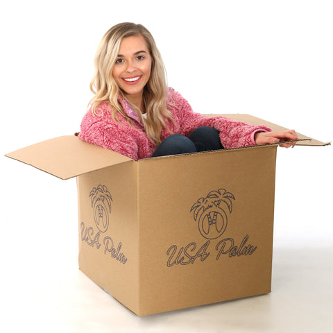 USA Palm large custom logo box with sherpa fleece model