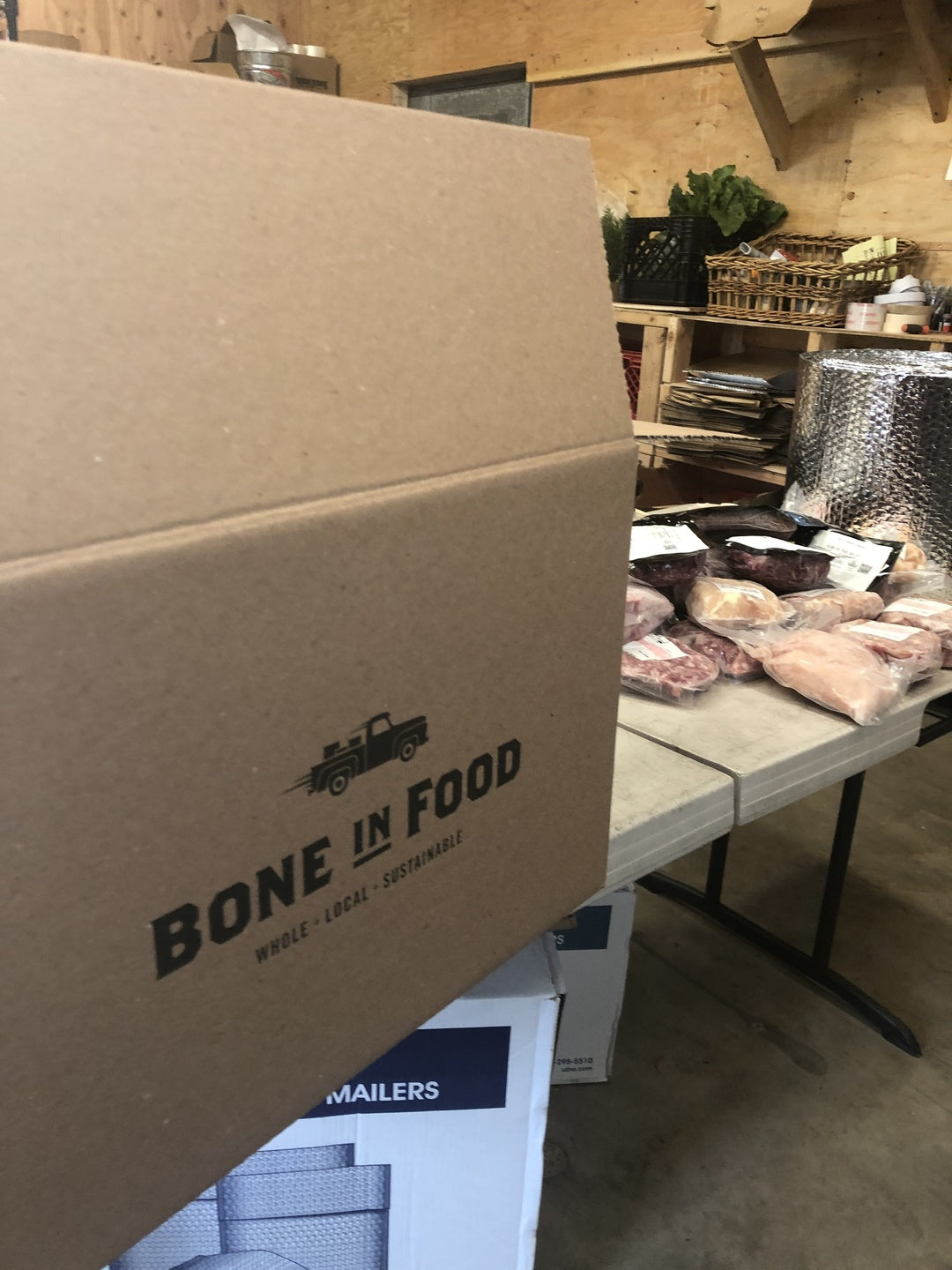 bone-in food custom shipping box