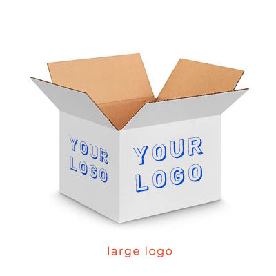 Small White Custom Shipping Box 10 x 8 x 6 (Special Buy)