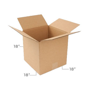 Large Corrugated Plain Kraft Brown 18x18x18 Shipping Box