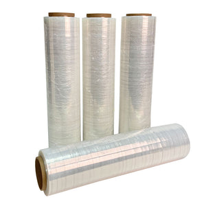 Clear Stretch Wrap, 90 Gauge (4 Pack)