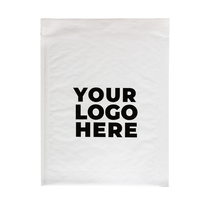 #2 Custom White Bubble Mailers 8.5 x 12