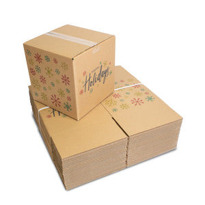 Happy Holidays Shipping Box, 12 x 12 x 12