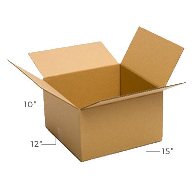 Large Corrugated Plain Kraft Brown 15x12x10 Shipping Box