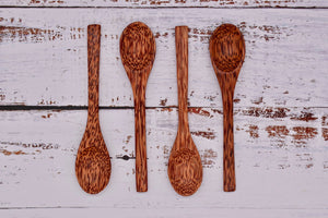 Coconut wood spoons, 4