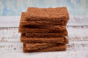 Coconut scourers, Coconut sponges bundle 8