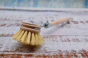Natural cleaning brush close up