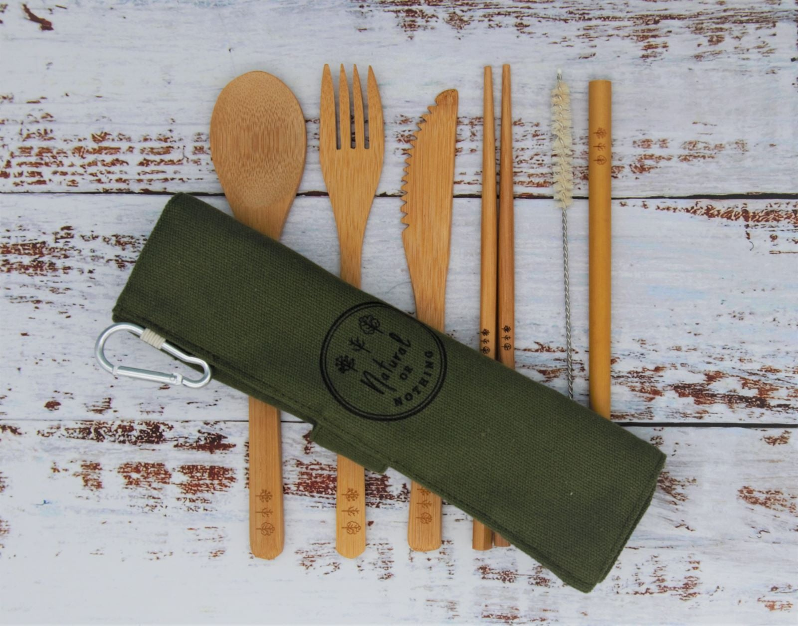 Bamboo Cutlery Set - Green