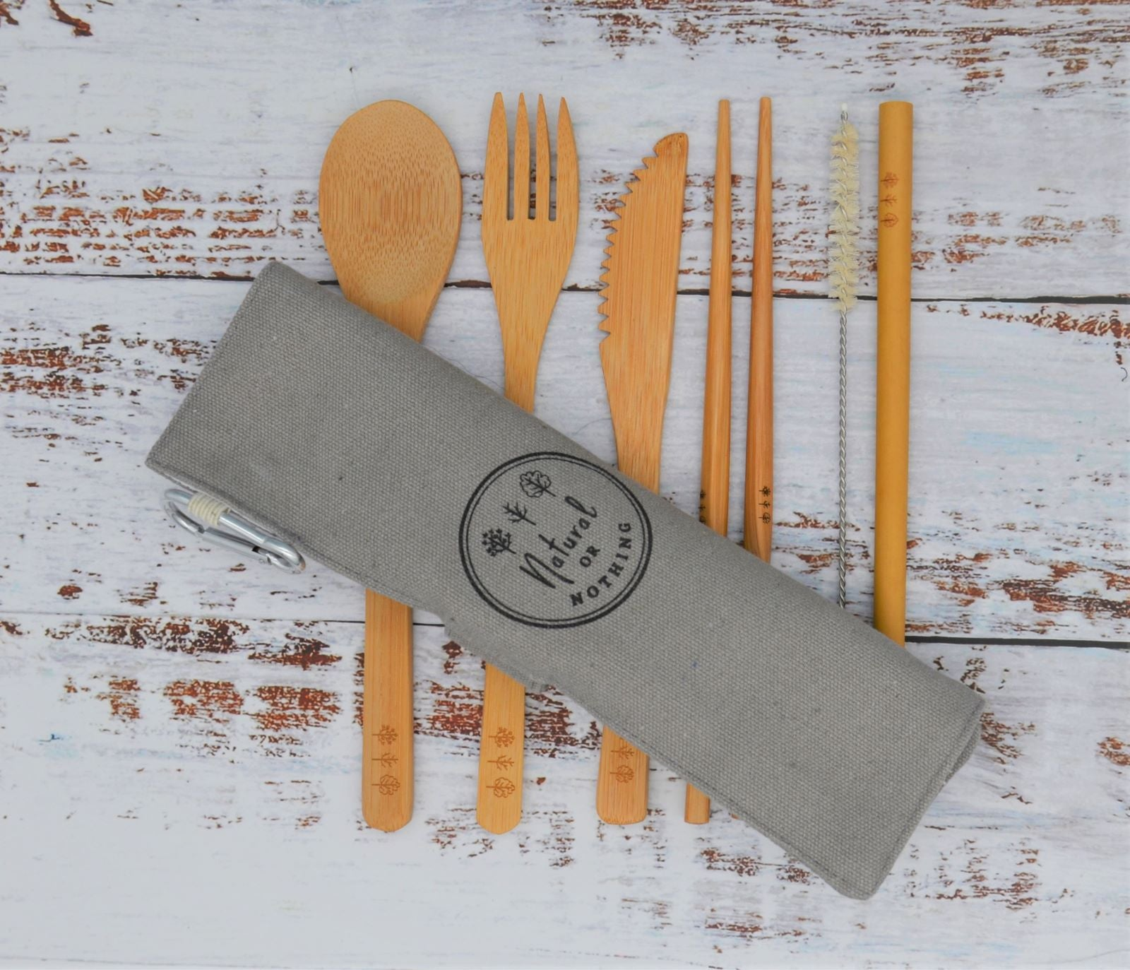 Bamboo Cutlery Set - Grey