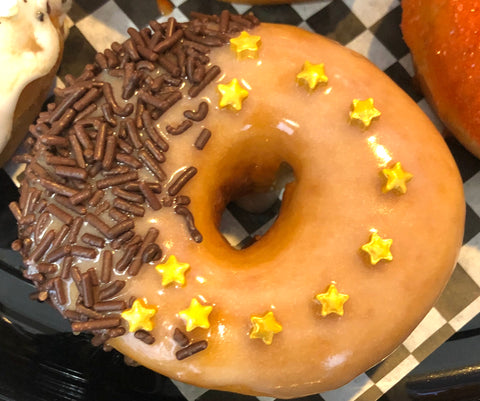 Golden Star Vanilla Glazed with Chocolate Sprinkles