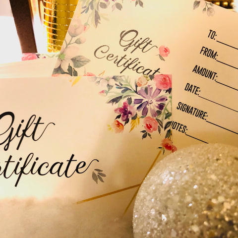 Christmas Gift Certificates $35