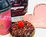 Valentine's Raspberry Truffle Coffee + Chocolate Raspberry Donut