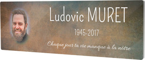 Plaque Columbarium Rouille