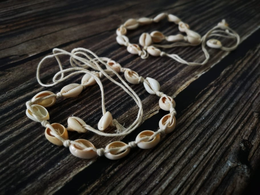 Bohemian Natural Sea Shell Necklace