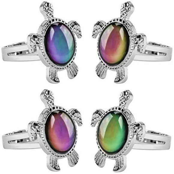 Turtle Mood Stone Ring