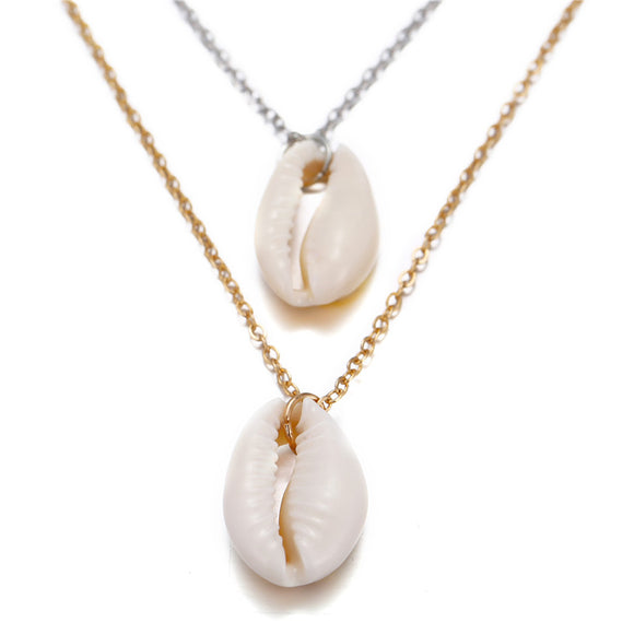 Bohemian Conch Shell Pendant Necklace for Women