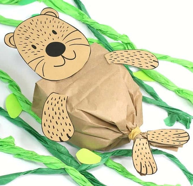 Sea Otter Craft - Paper Lunch Bag
