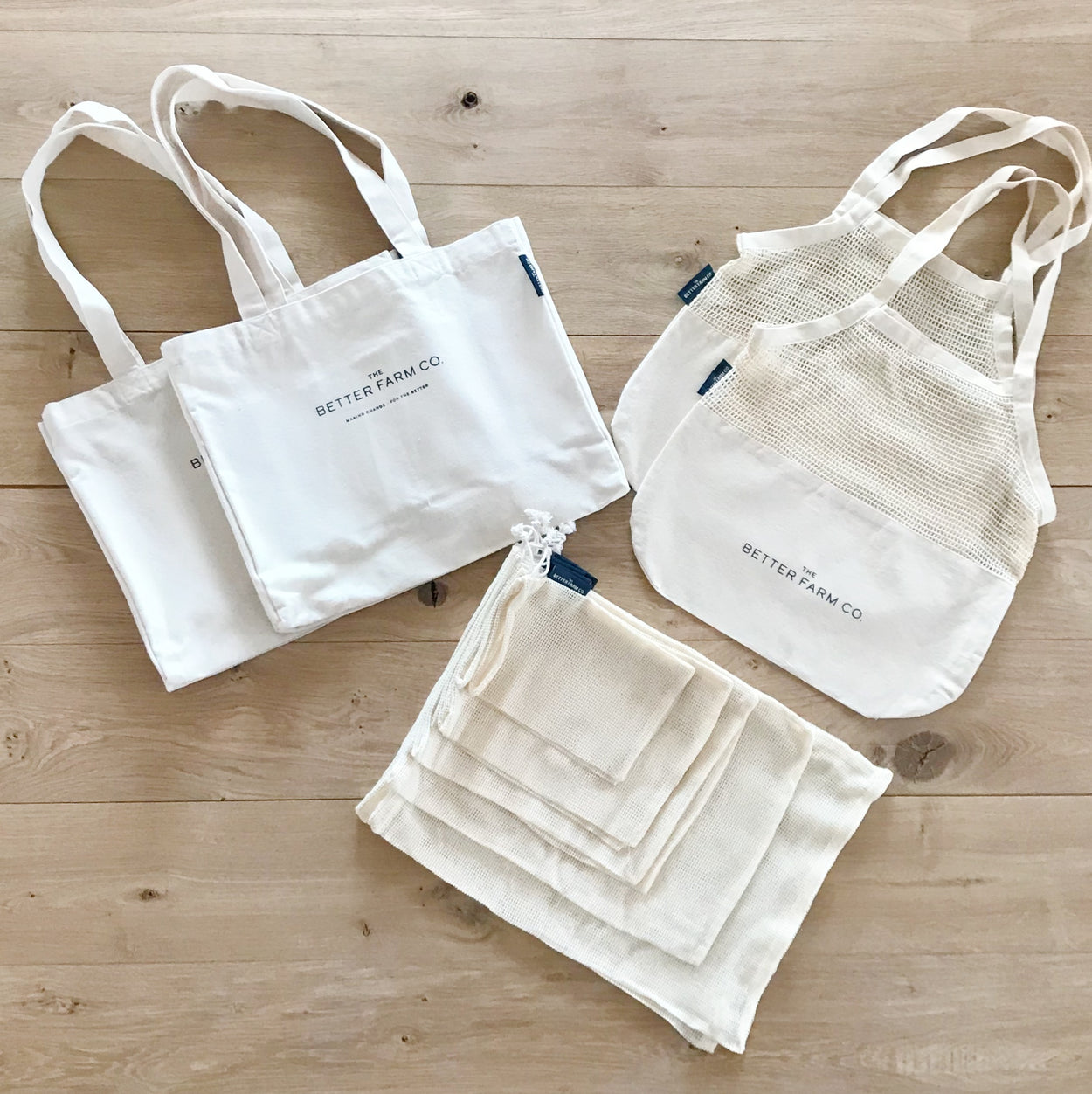 cotton shopping bag set wholesale