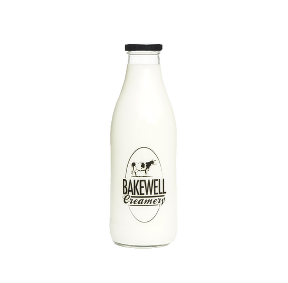 Raw Milk in 1L Glass Bottle - One Litre Bottle