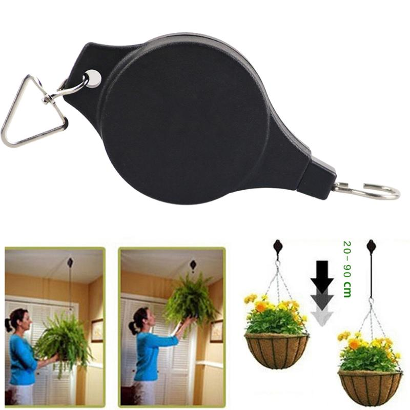 RETRO RETRACTABLE GARDEN BASKET PULL DOWN HANGER - Wise Deals