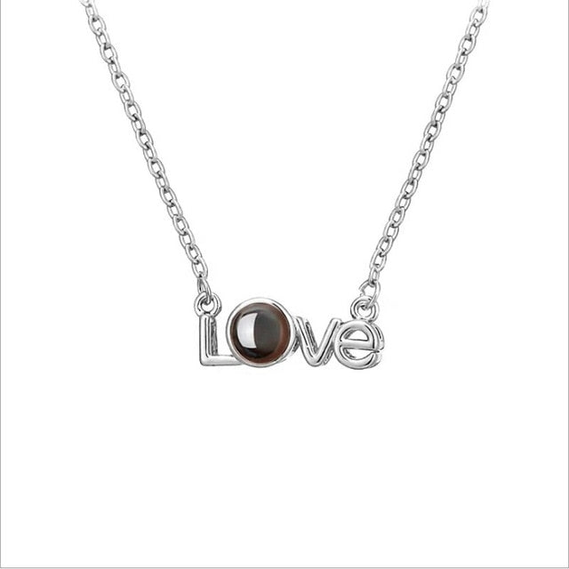 100 Languages I Love You Projection Charm Necklaces - Wise Deals