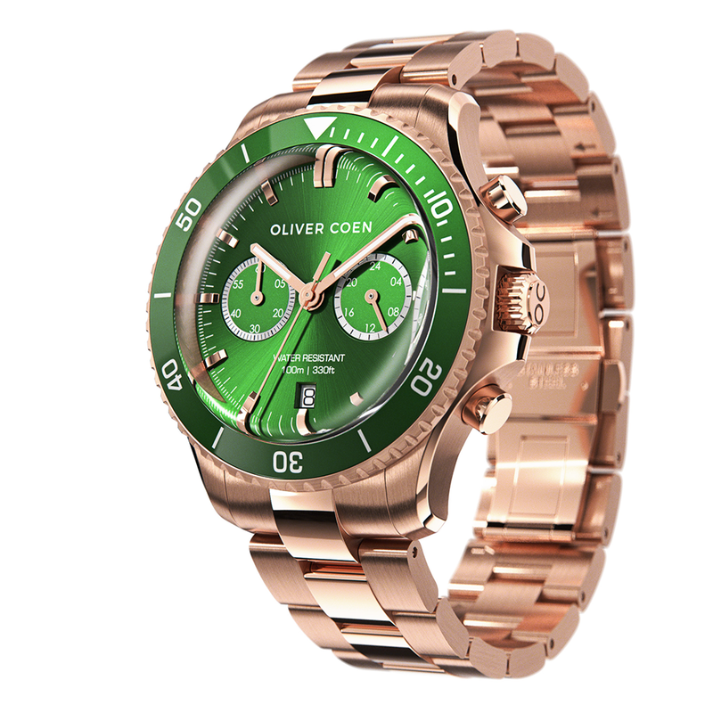 Continental 40 Rose Gold / Green