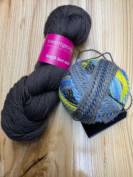 Sparks Socks - Hand Dyed Sock Yarn and Zauberball Crazy