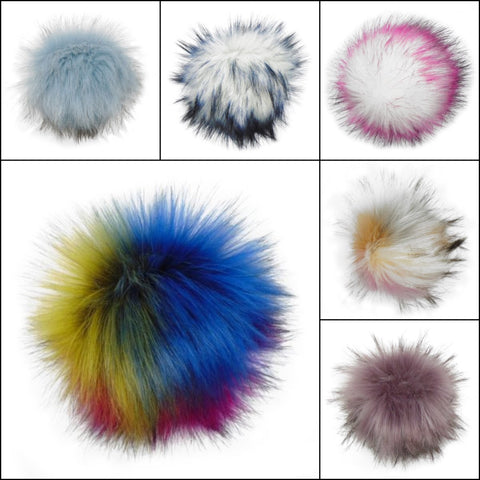 Snap on Pompoms