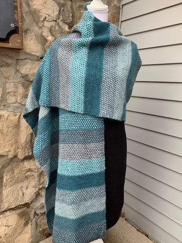 Felted Tweed Fade Scarf/Wrap