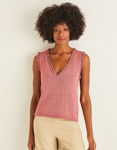 Frill Edge Shell Top