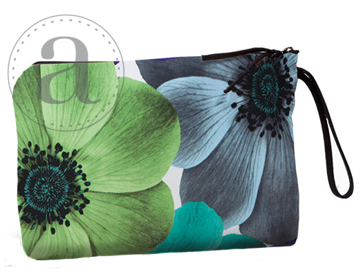Turquoise Poppies Grand Pouch