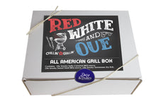 Load image into Gallery viewer, Red White and Q All American Grill Gift Box