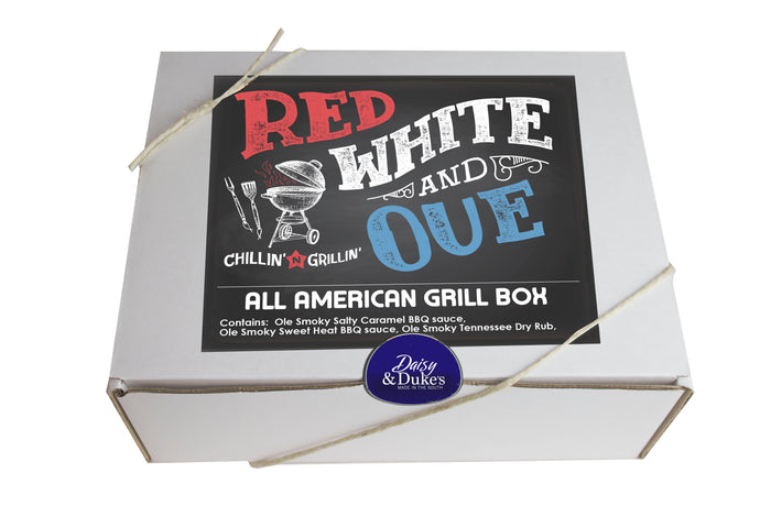 Red White and Q All American Grill Gift Box