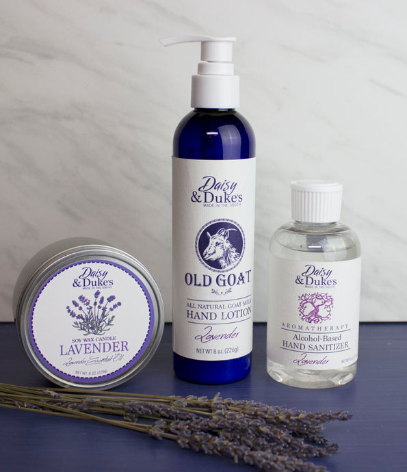 Lavender Gift Box with hand sanitizer- Medium (candle)