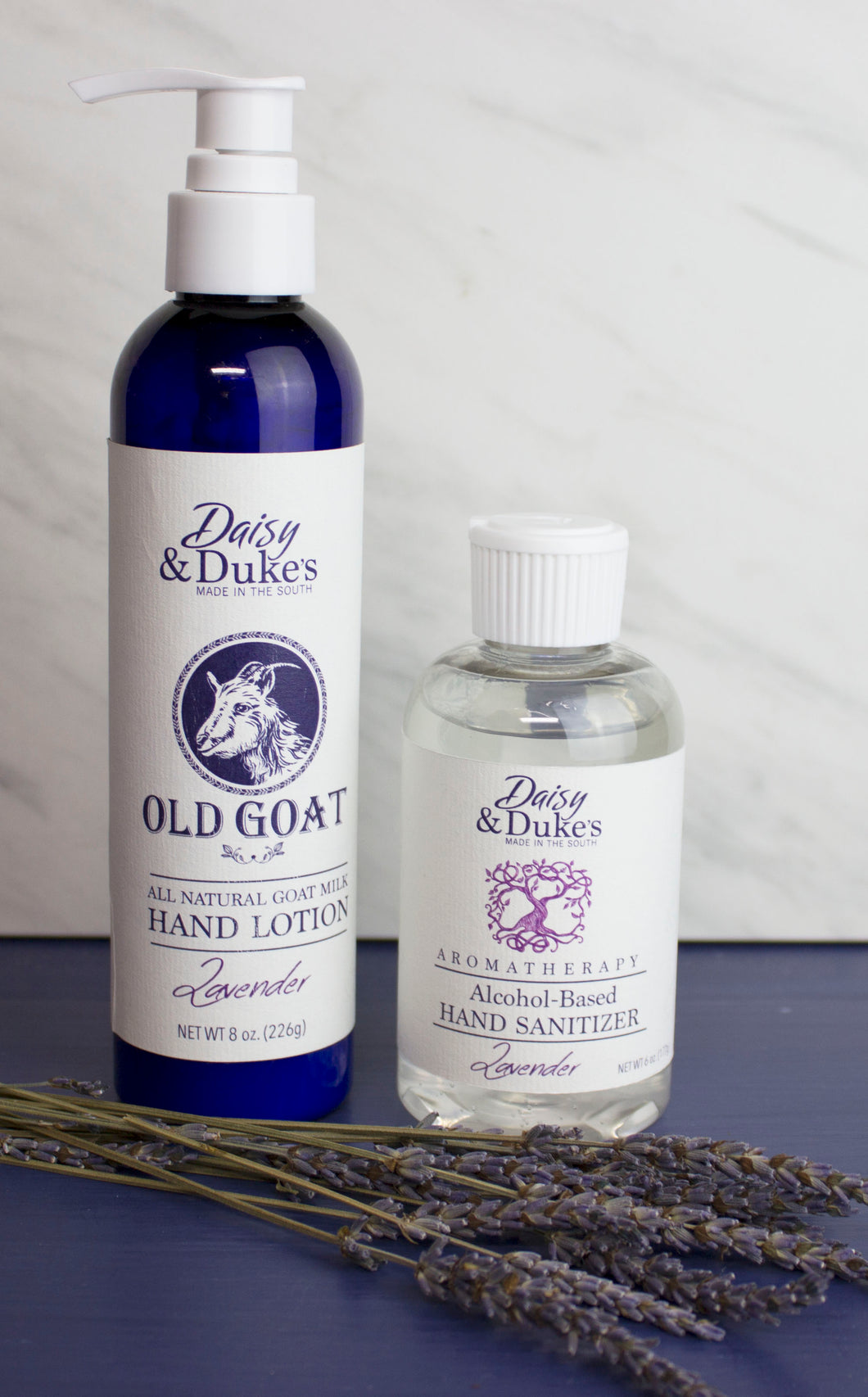Lavender Hand Sanitizer and  Goat Milk Lotion Gift Set