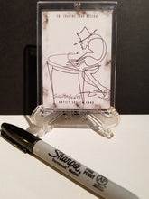 Load image into Gallery viewer, PIANO GROOVIN ON TUESDAY - Original One Line Art Card - Acrylic Encased w/ Table Top Easel