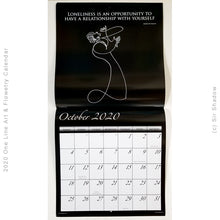 Load image into Gallery viewer, 2020 One Line Art & Flowetry Calendar - SELF LOVE